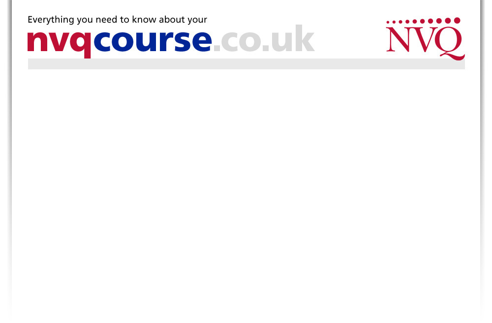 nvq courses | level 1 2 3 4 5 | qcf courses